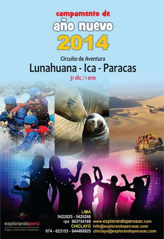 Fiesta + cena + camping de fin de año en lunahuana