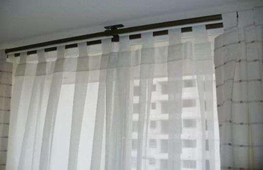 Cortinas en barras de acero o madera cortinas en argollas
