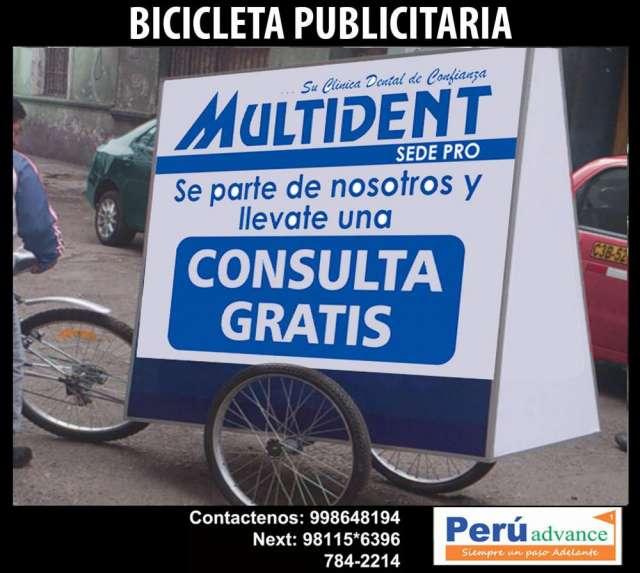 Bicicleta publicitaria para eventos