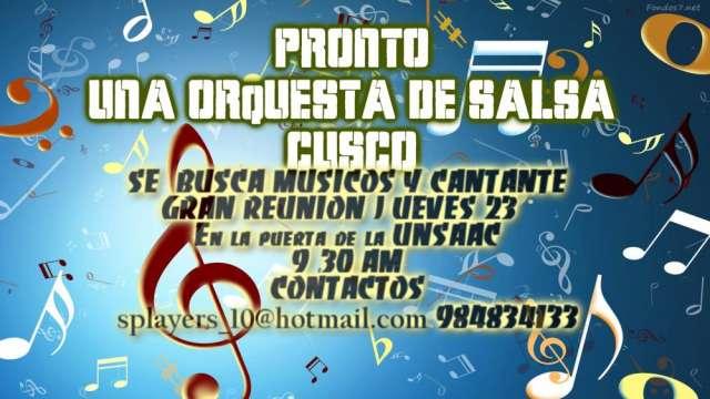 Se busca músicos y cantante para orquesta de salsa