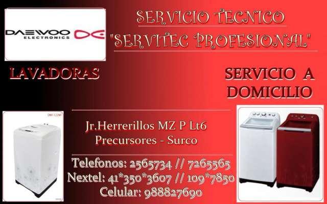 Servicio tecnico lavadoras daewoo →frigidaire lima 7265565