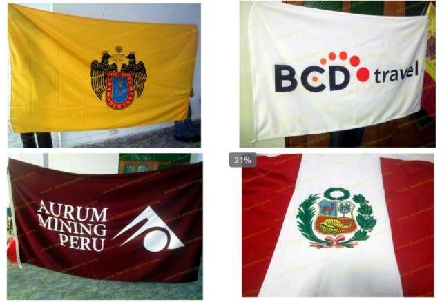 Venta de banderas, estandartes, estampados, banderas de escritorio, estampado en polos.