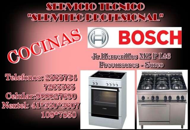 Servicio tecnico cocinas bosch lima ----.....---- 2565734