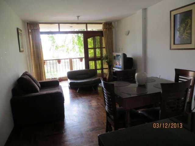 Alquilo precioso departamento amoblado con balcon un dormitorio