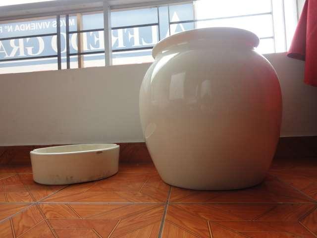 Jarron ceramico ancho 0.45 cm x alto 0.45 cm