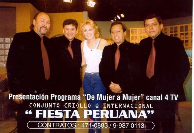 Conjunto criollo y orquesta fiesta peruana