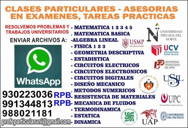 Profesor tutor clases de matemáticas y física whatsapp