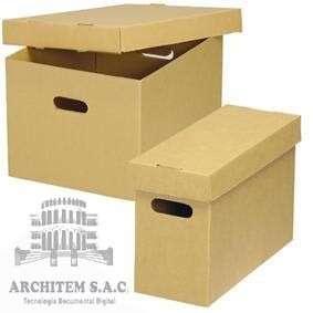 Archivos de carton corrugado stock