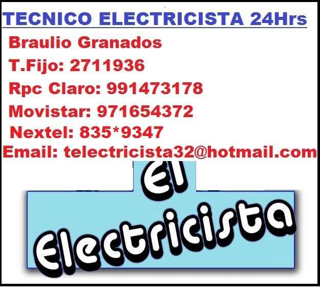 Electricista surco domicilio tecnico 991473178 - 971654372
