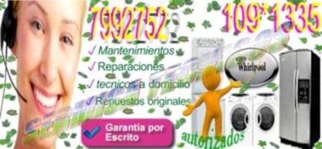 Autorizados whirlpool(lavadoras) 7992752 servicio tecnico- a domicilio