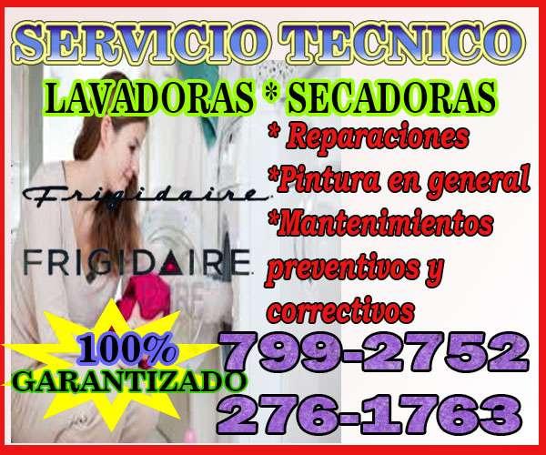 Técnicos con garantía a domicilio ,lavadoras -frigidaire - 2761763- chorrillos