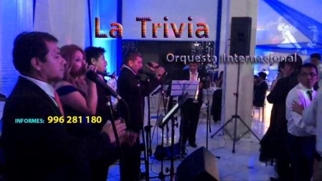 Orquesta musical grupo musical musica variada orquesta la trivia orquesta matrimonios fiestas bodas en lima perú