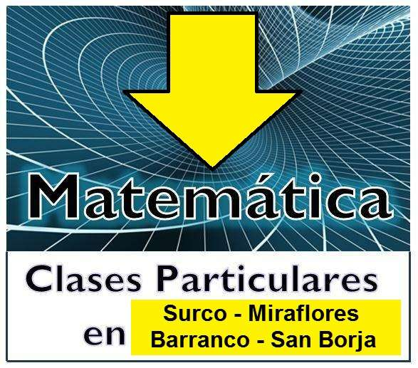 """Nivelacion escolar """" matematica a domicilio"""" surco y san borja."""