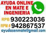 Ayuda por whatsapp en tareas trabajos practicas alumnos de la uni