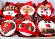 Cupcakes aniversario enamorados