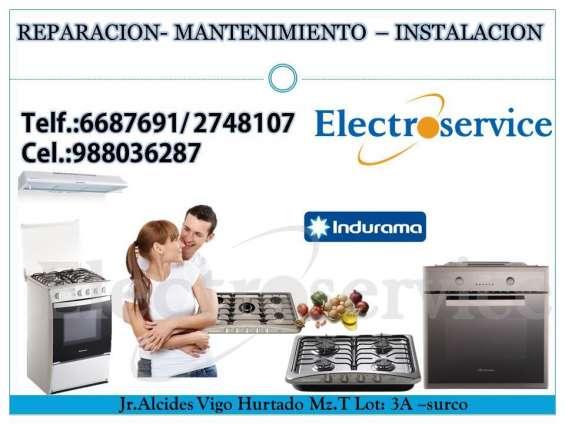 Servicio de reparaciones 6687691& ((indurama))