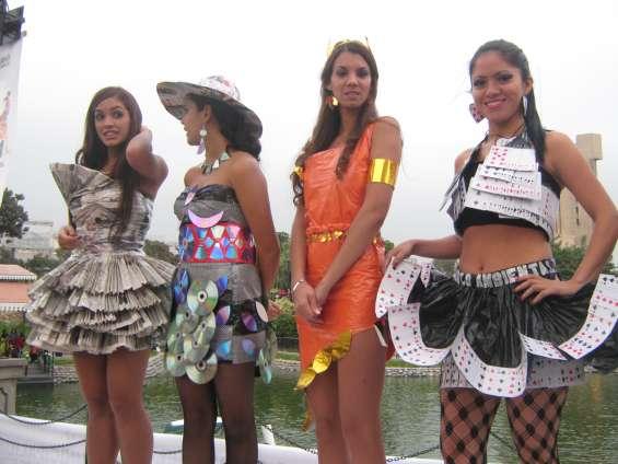 Trajes reciclados ecologicos disfraz trabajos escolares