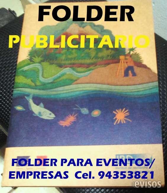 Folder publicitario
