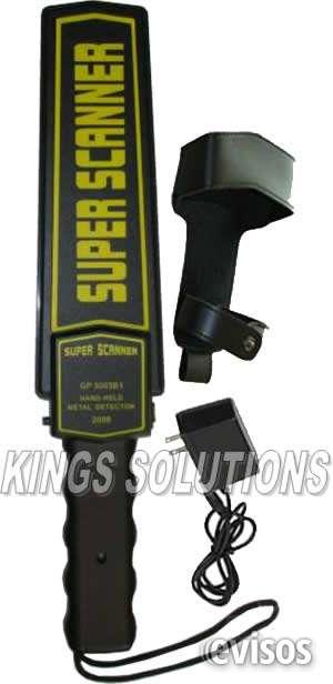 Detector de metales manuales:: super scanner:: para seguridad :: kings solutions
