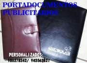 PORTADOCUMENTOS PUBLICITARIOS, FOLDER DE CUERINA, TARJETEROS, SENCILLEROS PUBLICITARIOS