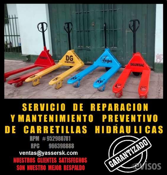 Servicios de mantenimiento hidráulico