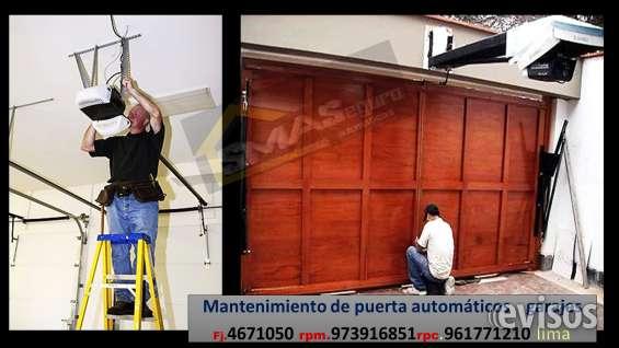 Mantenimiento de garajes en lima