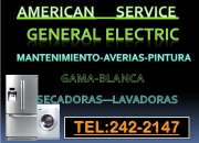General electric, servicio tecnico autorizado tel 2422147 / 977-917734