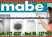 Tecnicos expertos a domicilio secadoras mabe (pueblo  libre) 998722262