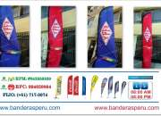 Banderas tipo pluma, Teardrop, fly banner.