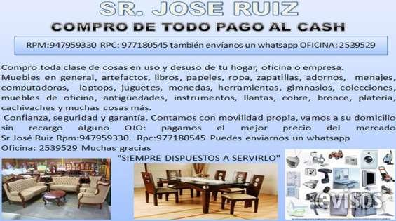Compro muebles cosas usadas pago al instante 977180545