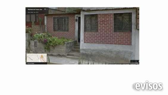 Se ofrece urgente vendo casa 160 m2 villa maria del triunfo altura av. pachacutec con mariategui. consultas por telefono.