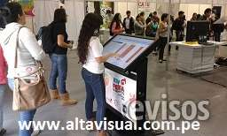 Alquiler de equipos audiovisuales , monitores touch, pantalla led y proyectores