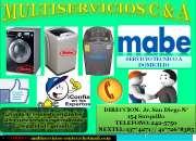 Servicio tecnico &venta de repuestos orignales de lavadoras mabe// 012425750