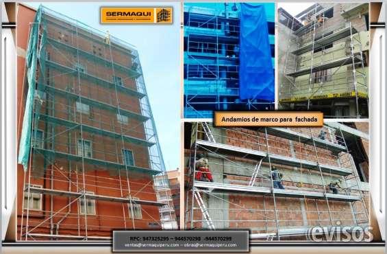 Venta andamios de fachada somo fabricantes andamios certificados venta y alquiler