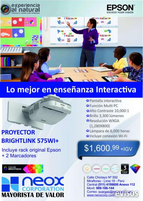 Proyector brightlink 575wi+
