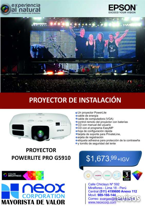 Proyector powerlite g5910
