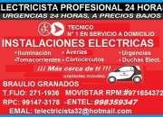 Electricista pueblo libre domicilio experto 991473178 - 971654372