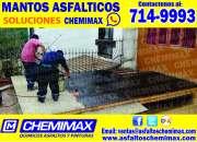 CHEMIMAX!!!! gran venta e instalación de mantos asfálticos y más