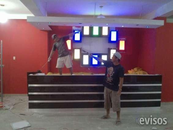 Fotos de Diseño y decoracion en drywall de karaokes y proyectos.