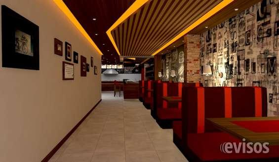 Fotos de Vista 3d y decoracion de  restaurant exclusivo.