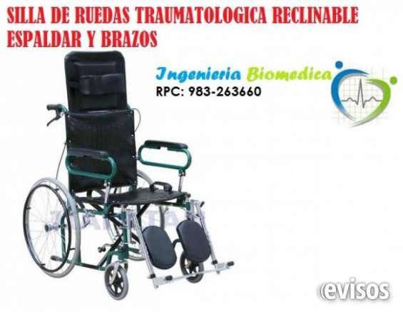 Silla de rueda traumatologica