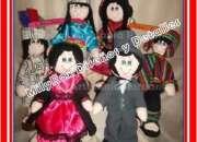 Muñecas artesanales de tela muñecos andinos