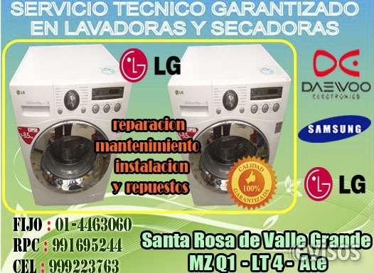 Lg trom servicio tecnico a domicilio 4463060