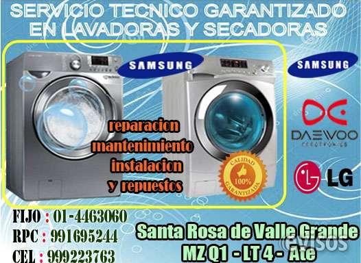 Servicio tecnico de lavadoras marca samsung a domicilio