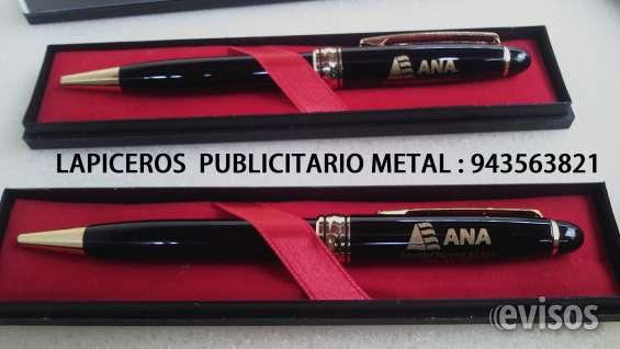 Lapicero metal publicitario