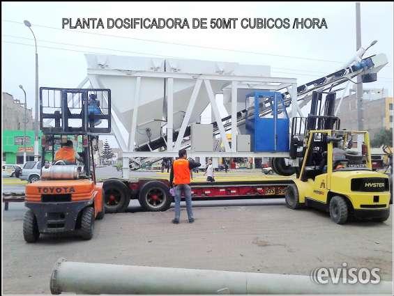 Plantas dosificadoras de concreto