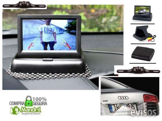 Kit camara porta placa + monitor plegable 4.3 pulgadas