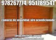 978267774, puertas seccionales ica, cámaras de seguridad, alarmas contra incendios