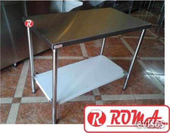 Mesa de trabajo acero inoxidable, refrigeracion roma diaz