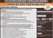 CURSO PLANEAMIENTO ESTRATÉGICO PARA EL SECTOR PÚBLICO